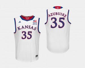 Kansas Jayhawks Udoka Azubuike Jersey White #35 College Basketball For Men