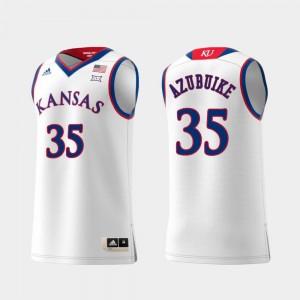 Kansas Jayhawks Udoka Azubuike Jersey White #35 Replica Swingman College Basketball Mens