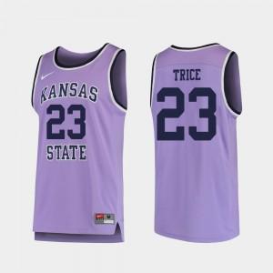 Kansas State Wildcats Austin Trice Jersey #23 Replica College Basketball Purple For Men's