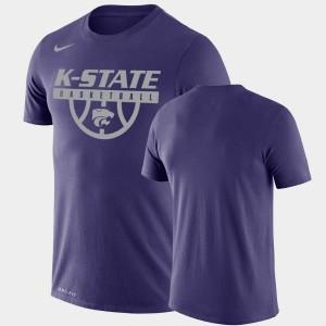 Kansas State Wildcats T-Shirt For Men Performance Basketball Purple Drop Legend