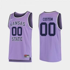Kansas State Wildcats Custom Jersey Men's Purple Replica #00 College Basketball
