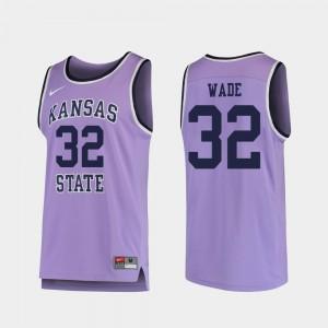 Kansas State Wildcats Dean Wade Jersey Purple College Basketball #32 Men's Replica