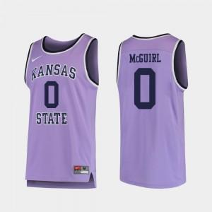 Kansas State Wildcats Mike McGuirl Jersey College Basketball #0 Purple Mens Replica