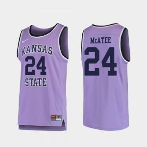 Kansas State Wildcats Pierson McAtee Jersey Replica #24 Men's College Basketball Purple
