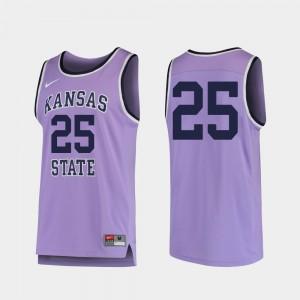 Kansas State Wildcats Jersey Replica #25 College Basketball Purple Mens