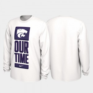 Kansas State Wildcats T-Shirt Our Time Bench Legend White For Men 2020 March Madness