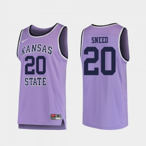 Kansas State Wildcats Xavier Sneed Jersey Replica #20 Purple For Men's College Basketball
