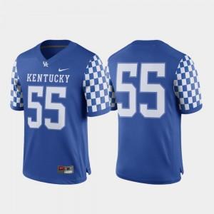 Kentucky Wildcats Jersey College Football #55 Royal Men Game