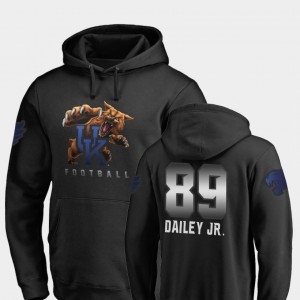 Kentucky Wildcats Allen Dailey Jr. Hoodie #89 Midnight Mascot Football For Men's Black
