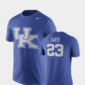 Kentucky Wildcats Anthony Davis T-Shirt Basketball Replica Men's Royal Future Stars #23