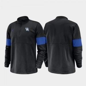 Kentucky Wildcats Jacket For Men Half-Zip Performance 2019 Coaches Sideline Black