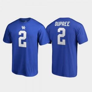 Kentucky Wildcats Bud Dupree T-Shirt Men Royal College Legends Name & Number #2