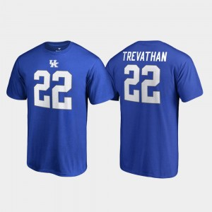 Kentucky Wildcats Danny Trevathan T-Shirt #22 For Men Royal Name & Number College Legends