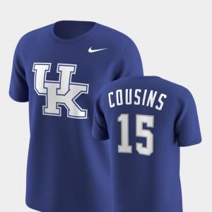 Kentucky Wildcats DeMarcus Cousins T-Shirt Future Stars Replica Men Royal #15