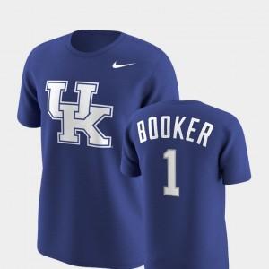 Kentucky Wildcats Devin Booker T-Shirt Future Stars Replica Royal Men #1