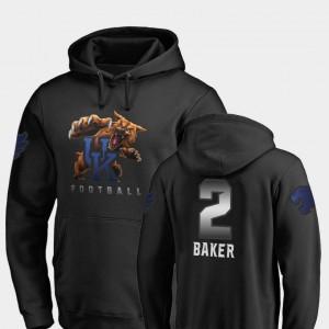 Kentucky Wildcats Dorian Baker Hoodie For Men's #2 Midnight Mascot Football Black