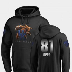 Kentucky Wildcats Isaiah Epps Hoodie For Men #81 Football Midnight Mascot Black