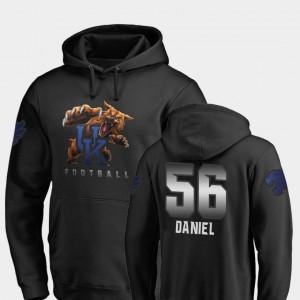 Kentucky Wildcats Kash Daniel Hoodie Black Mens Midnight Mascot #56 Football