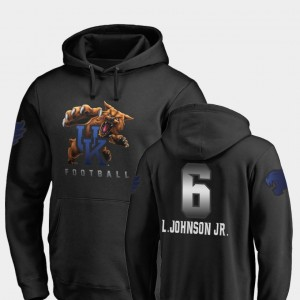 Kentucky Wildcats Lonnie Johnson Jr. Hoodie Football #6 Black Mens Midnight Mascot