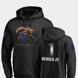 Kentucky Wildcats Lynn Bowden Jr. Hoodie Men's Midnight Mascot #1 Black Football