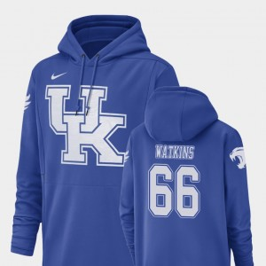 Kentucky Wildcats Naasir Watkins Hoodie For Men #66 Champ Drive Football Performance Royal