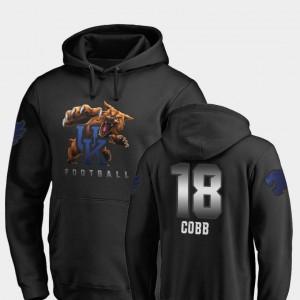Kentucky Wildcats Randall Cobb Hoodie Men's Black #18 Football Midnight Mascot
