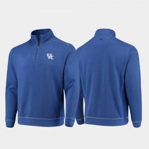 Kentucky Wildcats Jacket Half-Zip Pullover Tommy Bahama Royal For Men's College Sport Nassau