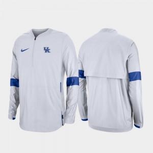 Kentucky Wildcats Jacket Quarter-Zip White For Men's 2019 Coaches Sideline