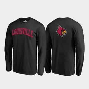 Louisville Cardinals T-Shirt Primetime Long Sleeve Black Men's