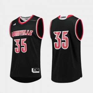 Louisville Cardinals Jersey Black Mens #35 Replica College Basketball