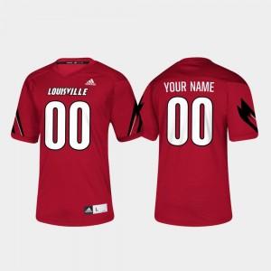 Louisville Cardinals Custom Jerseys Red College Football Men's #00