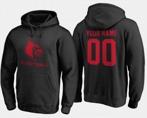Louisville Cardinals Custom Hoodies #00 Black Men Basketball -