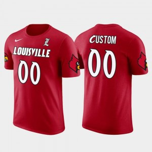 Louisville Cardinals Custom T-Shirts For Men's Cotton Football #00 Red Future Stars