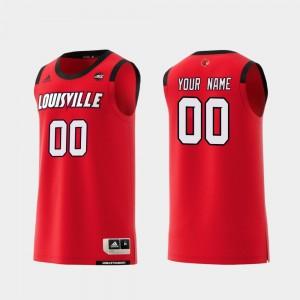 Louisville Cardinals Customized Jersey Replica Men's #00 College Basketball Red