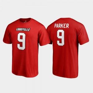 Louisville Cardinals DeVante Parker T-Shirt #9 Red Men Name & Number College Legends
