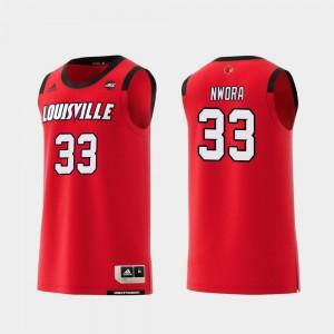 Louisville Cardinals Jordan Nwora Jersey College Basketball #33 For Men Replica Red