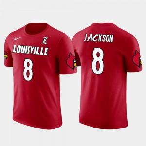 Louisville Cardinals Lamar Jackson T-Shirt For Men #8 Baltimore Ravens Football Red Future Stars