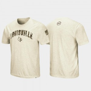 Louisville Cardinals T-Shirt Desert Camo Men's Oatmeal OHT Military Appreciation