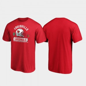 Louisville Cardinals T-Shirt 2019 Music City Bowl Bound For Men Red Spike