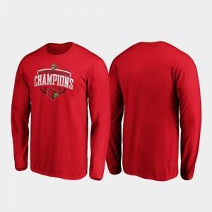 Louisville Cardinals T-Shirt Red Mens Corner Long Sleeve 2019 Music City Bowl Champions