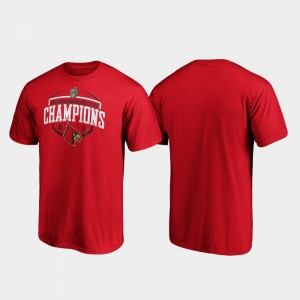 Louisville Cardinals T-Shirt 2019 Music City Bowl Champions Corner For Men's Red