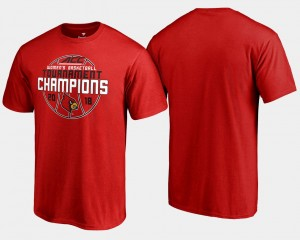 Louisville Cardinals T-Shirt Basketball Conference Tournament Red Mens 2018 ACC Champions