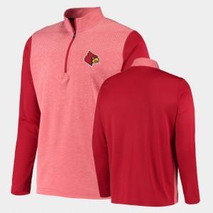 Louisville Cardinals Jacket For Men College UPF Red Quarter-Zip
