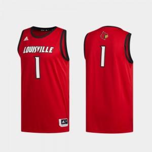 Louisville Cardinals Jersey Swingman Basketball Basketball Swingman Men #1 Red