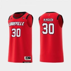 Louisville Cardinals Ryan McMahon Jersey Replica For Men Red #30 College Basketball