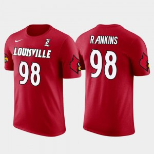 Louisville Cardinals Sheldon Rankins T-Shirt For Men Red Future Stars New Orleans Saints Football #98
