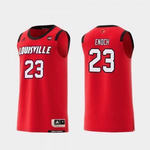 Louisville Cardinals Steven Enoch Jersey Replica Red #23 Men's College Basketball