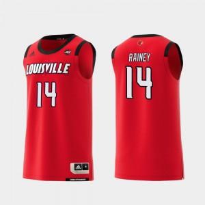 Louisville Cardinals Will Rainey Jersey #14 Men Red College Basketball Replica