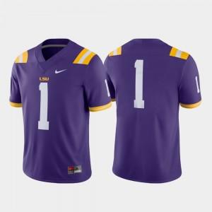 LSU Tigers Jersey #1 Game Purple Mens College Football