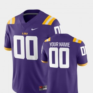 LSU Tigers Custom Jersey 2018 Game College Football Purple #00 For Men's